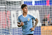 St. Louis, MO, September 10 2019.The USMNT tied Uruguay 1-1 in an international friendly at Busch Stadium.<br /> Brian Rodriguez #16 scores and celebrates goal.