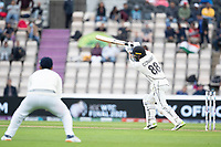 Devon Conway, New Zealand drives through extra cover during India vs New Zealand, ICC World Test Championship Final Cricket at The Hampshire Bowl on 20th June 2021