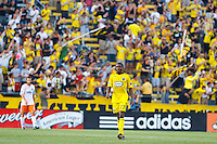 24 JULY 2010:  Emmanuel Ekpo of the Columbus Crew (17) during MLS soccer game between Houston Dynamo vs Columbus Crew at Crew Stadium in Columbus, Ohio on July 3, 2010. Columbus defeated the Dynamo 3-0.
