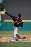 Pittsburgh Pirates pitcher J.C. Flowers (45) during a Florida Instructional League game against the Detroit Tigers on October 16, 2020 at Joker Marchant Stadium in Lakeland, Florida.  (Mike Janes/Four Seam Images)