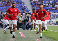 Lyon, France - Saturday June 09, 2018: Cameron Carter-Vickers, Antonee Robinson during an international friendly match between the men's national teams of the United States (USA) and France (FRA) at Groupama Stadium.