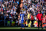 Hernan Arsenio Perez of Deportivo Alaves walks back to the pitch after being injured during the La Liga 2017-18 match between Real Madrid and Deportivo Alaves at Santiago Bernabeu Stadium on February 24 2018 in Madrid, Spain. Photo by Diego Souto / Power Sport Images