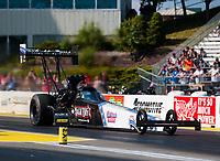 Jun 7, 2019; Topeka, KS, USA; NHRA top fuel driver Scott Palmer during qualifying for the Heartland Nationals at Heartland Motorsports Park. Mandatory Credit: Mark J. Rebilas-USA TODAY Sports