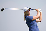 Anna Nordqvist tees off during the World Celebrity Pro-Am 2016 Mission Hills China Golf Tournament on 22 October 2016, in Haikou, China. Photo by Victor Fraile / Power Sport Images