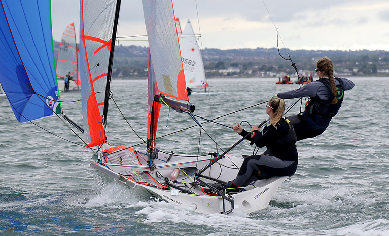 Lauren McDowell and Erin McIlwaine of Newcastle YC and Royal North