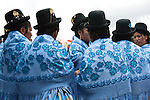 Quechuan women in traditional dress during the entrada of the Miner's Carnaval in Potosí.