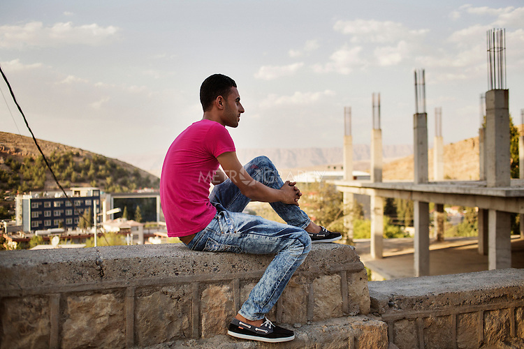 29/08/15. Shaqlawa, Iraq. -- Whalid, 25 from Falluja came to Shaqlawa with his father, brother and sisters in the spring of 2014. Falluja became too dangerous with the governmental army shelling and mortaring the city day after day.
