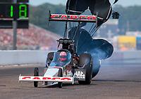 Aug 18, 2019; Brainerd, MN, USA; NHRA top fuel driver Billy Torrence during the Lucas Oil Nationals at Brainerd International Raceway. Mandatory Credit: Mark J. Rebilas-USA TODAY Sports