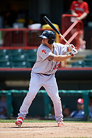 Reading Fightin Phils first baseman Kyle Martin (33) at bat during a game against the Erie SeaWolves on May 18, 2017 at UPMC Park in Erie, Pennsylvania.  Reading defeated Erie 8-3.  (Mike Janes/Four Seam Images)