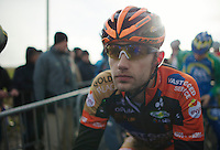 Rob Peeters (BEL) on the start line<br /> <br /> 2014 Noordzeecross<br /> Elite Men