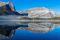 Early morning on Upper Kananaskis Lake, Peter Lougheed Provincial Park, Alberta, Canada