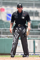 Umpire Josh Havens during a game between the GCL Rays and GCL Red Sox on June 25, 2014 at JetBlue Park at Fenway South in Fort Myers, Florida.  GCL Red Sox defeated the GCL Rays 7-0.  (Mike Janes/Four Seam Images)