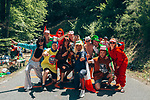 Fans in costume wait for the race to pass during Stage 8 of the 2019 Tour de France running 200km from Macon to Saint-Etienne, France. 13th July 2019.<br /> Picture: ASO/Thomas Maheux   Cyclefile<br /> All photos usage must carry mandatory copyright credit (© Cyclefile   ASO/Thomas Maheux)