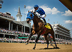 May 02, 2015: Private Zone with Martin Pedroza up wins the Churchill Downs Handicap at Churchill Downs Louisville Ky. Alex Evers/ESW/CSM