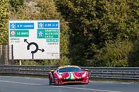 #52 AF CORSE - Ferrari 488 GTE EVO: Daniel Serra - Miguel Molina - Davide Rigon, 24 Hours of Le Mans , Test Day, Circuit des 24 Heures, Le Mans, Pays da Loire, France