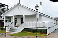 Childhood home of Hank Aaron, that has been turned into a museum and moved to a stadium location, before a Mobile BayBears a game against the Pensacola Blue Wahoos on April 14, 2013 at Hank Aaron Stadium in Mobile, Alabama.  Mobile defeated Pensacola 5-2.  (Mike Janes/Four Seam Images)