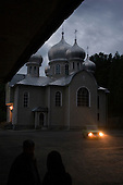 Lipcha, Ukraine.June 7, 2005 ..Evening at the Rozhdestva Presvyatoy Bogoroditci Monastery for women. It was built in 1921 and then closed by the communist party in 1961 to become an orphanage. In 1990 it became a church again. It is a Russian Orthodox church..