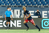 FOXBOROUGH, MA - AUGUST 26: Ryo Shimazaki #31 of New England Revolution II moves forward to receive a pass during a game between Greenville Triumph SC and New England Revolution II at Gillette Stadium on August 26, 2020 in Foxborough, Massachusetts.