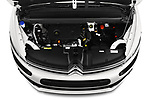Car stock 2018 Citroen Grand C4 Spacetourer Feel 5 Door MPV engine high angle detail view