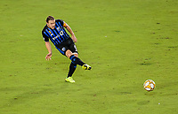 CARSON, CA - SEPTEMBER 21: Samuel Piette #6 of the Montreal Impact passes off a ball during a game between Montreal Impact and Los Angeles Galaxy at Dignity Health Sports Park on September 21, 2019 in Carson, California.