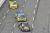 #4: Todd Gilliland, Kyle Busch Motorsports, Toyota Tundra JBL/SiriusXM, #88: Matt Crafton, ThorSport Racing, Ford F-150 Chi-Chis/Menards, #8: John Hunter Nemechek, NEMCO Motorsports, Chevrolet Silverado