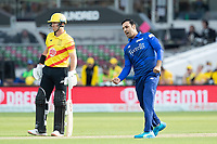 Mohammad Nabi, London Spirit celebrates the wicket of Alex Hales during London Spirit Men vs Trent Rockets Men, The Hundred Cricket at Lord's Cricket Ground on 29th July 2021
