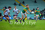 Tommy Walsh, Kerry in action against Sean Kelly, Galway during the Allianz Football League Division 1 South Round 1 match between Kerry and Galway at Austin Stack Park in Tralee.