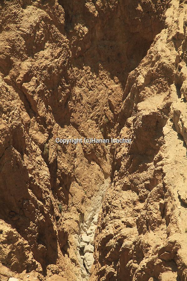 Judean desert, the canyon at Nahal Darga