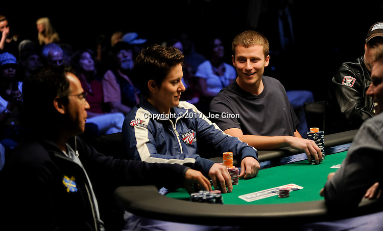 Derek Raymond is all smiles after doubling up through Cliff Josephy, at left.