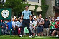 4th June 2021; Dublin, Ohio, USA; Adam Scott (AUS) watches his tee shot on 10 during the Memorial Tournament Rd2 at Muirfield Village Golf Club on June 4, 2021 in Dublin, Ohio.