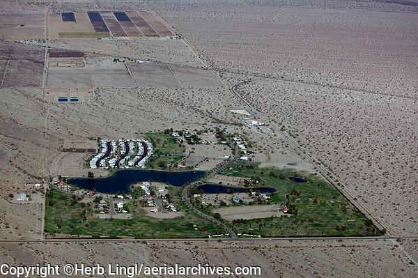 aerial photograph of Desert Center, Riverside County, California