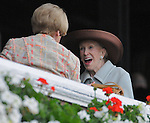 29 August 2009: Mary Lou Whitney in her box on Travers Day at Saratoga Race Track in Saratoga Springs, New York