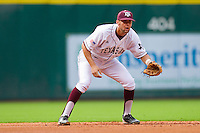 Shortstop Kenny Jackson #15 of the Texas A&M Aggies on defense against the Utah Utes at Minute Maid Park on March 4, 2011 in Houston, Texas.  Photo by Brian Westerholt / Four Seam Images