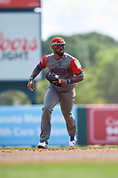 Dominican Republican shortstop Jose Reyes (7) during a Spring Training exhibition game against the Baltimore Orioles on March 7, 2017 at Ed Smith Stadium in Sarasota, Florida.  Baltimore defeated the Dominican Republic 5-4.  (Mike Janes/Four Seam Images)