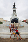 Local Boys Having Fun In Front Of General Máximo Gómez Statue