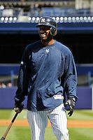 Apr 02, 2011; Bronx, NY, USA; New York Yankees infielder Eduardo Nunez (26) during game against the Detroit Tigers at Yankee Stadium. Yankees defeated the Tigers 10-6. Mandatory Credit: Tomasso De Rosa