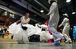 Dancers from International Folkloric Dancers from Dayton performed as dozens of artists from around the state of Nevada who performed or demonstrating their crafts at the annual Capital Collage in Carson City, Nev., on Friday, October 27, 2017. <br /> Photo by Lance Iversen/Nevada Momentum