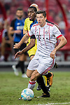 Bayern Munich Forward Robert Lewandowski (R) fights for the ball with FC Internazionale Midfielder Geoffrey Kondogbia (L) during the International Champions Cup match between FC Bayern and FC Internazionale at National Stadium on July 27, 2017 in Singapore. Photo by Marcio Rodrigo Machado / Power Sport Images