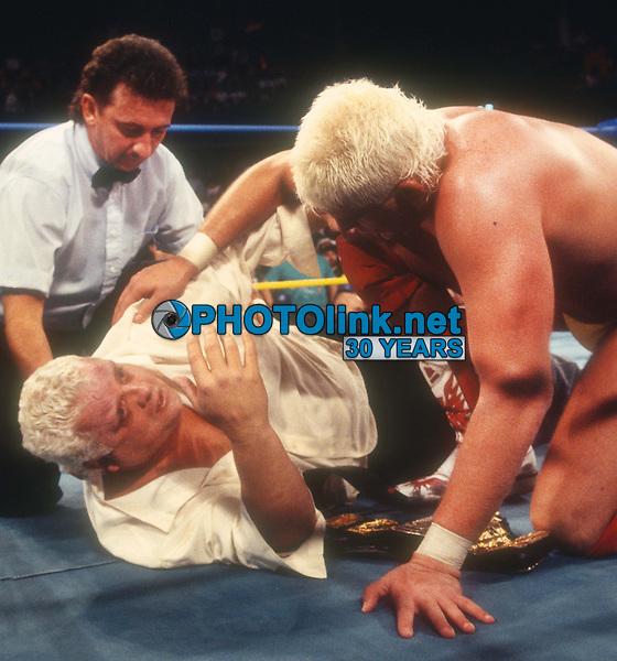 Dusty Rhodes Dustin Rhodes 1993<br /> Photo By John Barrett/PHOTOlink.net