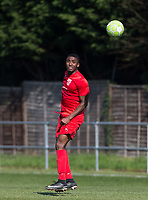 Niran Butler of Flackwell Heath during the UHLSport Hellenic Premier League match between Flackwell Heath v Tuffley Rovers at Wilks Park, Flackwell Heath, England on 20 April 2019. Photo by Andy Rowland.