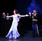 """Carmen Cusack and Ben Davis during the Curtain Call for the closing Night performance of  Encores! """"Call Me Madam"""" at City Center on February 10, 2019 in New York City."""
