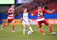 March 23, 2013: Real Salt Lake mid fielder Ned Grabavoy #20 and FC Dallas defender Matt Hedges #24 during Major League Soccer match at FC Dallas Stadium in Frisco TX. FC Dallas defeat Real Salt Lake 2-0.