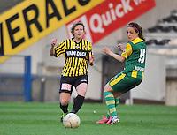 Lierse SK - ADO Den Haag : Lien Mermans (l) en Bouchra Moudou.foto DAVID CATRY / Nikonpro.be