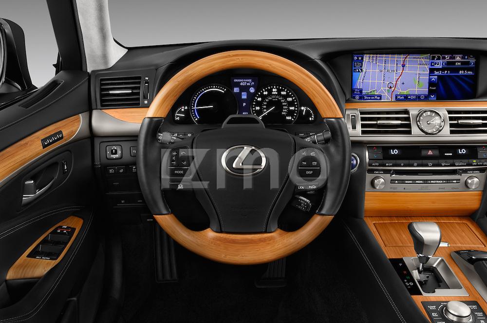Car pictures of steering wheel view of a 2016 Lexus LS 600h L 4 Door Sedan Steering Wheel