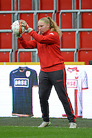 20151007 - LIEGE , BELGIUM : Standard 's  Alberta René Verhoeven pictured during the female soccer match between STANDARD Femina de Liege and 1. FFC Frankfurt , in the 1/16 final ( round of 32 ) first leg in the UEFA Women's Champions League 2015 in stade Maurice Dufrasne - Sclessin in Liege. Wednesday 7 October 2015 . PHOTO DAVID CATRY