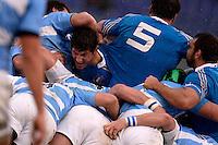 Alessandro Zanni in mischia Italia<br /> Roma 23-11-2013, Stadio Olimpico. Cariparma Rugby Test Match - Italia vs Argentina - Foto Antonietta BaldassarreInsidefoto