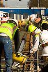 Streetcar Railroad Construction in Portland, Oregon
