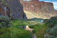 Camper. Alpegate Trail. High Rock Canyon. Black Rock Desert National Conservation area. Nevada.