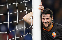 Calcio, Tim Cup: Roma vs Empoli. Ottavi di finale a gara unica. Roma, stadio Olimpico, 20 gennaio 2015.<br /> Roma's Mattia Destro smiles during the Italian Cup round of 16 football match between Roma and Empoli at Rome's Olympic stadium, 20 January 2015.<br /> UPDATE IMAGES PRESS/Riccardo De Luca