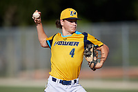 Knute Rockey (4) during the WWBA World Championship at Lee County Player Development Complex on October 8, 2020 in Fort Myers, Florida.  Knute Rockey, a resident of Port Orange, Florida who attends Spruce Creek High School.  (Mike Janes/Four Seam Images)